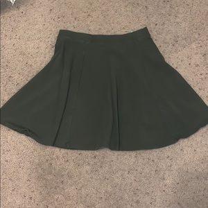 Olive skater skirt